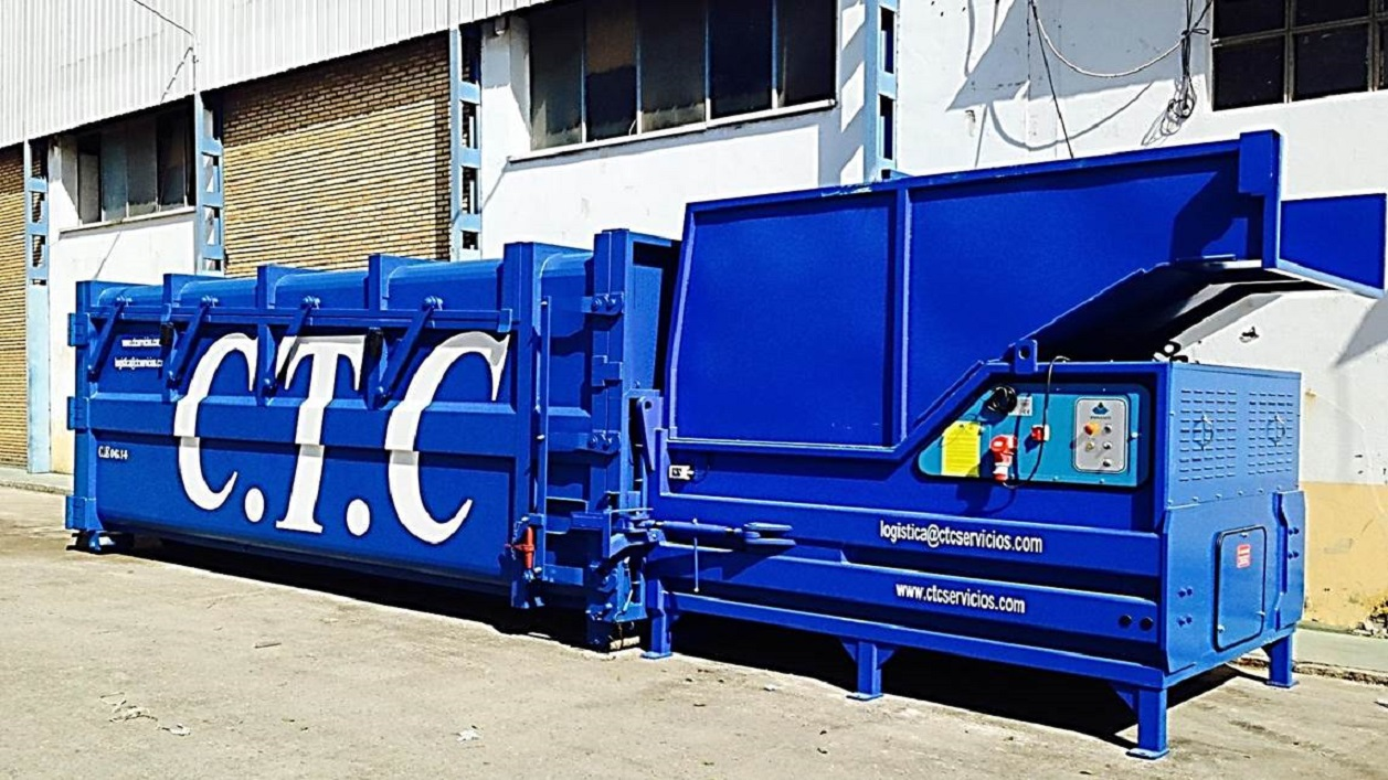 Static compactor for docks 30m3